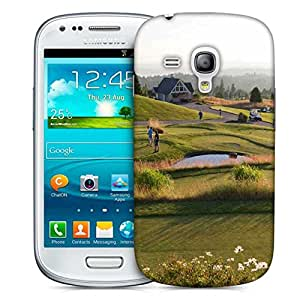 Snoogg People Playing Golf Printed Protective Phone Back Case Cover For Samsung S3 Mini / S III Mini