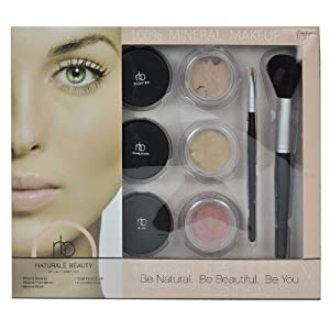 Naturale Beauty 100% Mineral Makeup Set, Fair Edition