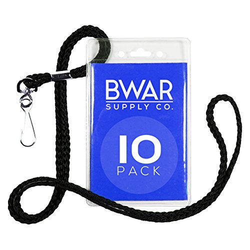 ID Badge Holder with Black Lanyard Bundle (10 pack) (Disneyland Tickets 2 Day Pass compare prices)