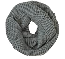 niceeshop(TM) Unisex Soft Wool Classic Braid Knit Infinity Warm Loop Scarf Hood -Grey