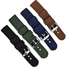 buy Tr.Od Men Strong Infantry 18Mm Navy Blue Military Wrist Army Nylon Canvas Strap Band