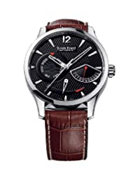 Louis Erard Men's 87221AA02.BDCL50 1931 Automatic Tanneau Perpetual Calendar Brown Leather Watch