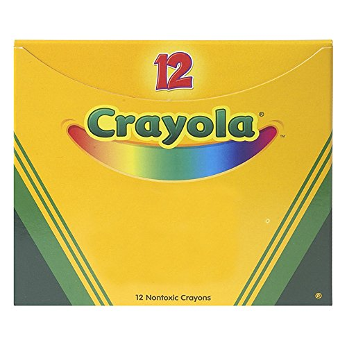 "Crayola Non-Toxic Regular Single Color Refill Crayon (12 Pack), 5/16"" x 3-5/8"", Orange"