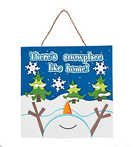 Best Deals! There's Snowplace Like Home Sign Craft Kit (Makes 12)