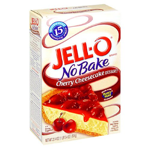 Buy Jell-O No-Bake Cherry Cheesecake Dessert, 21.4-Ounce Boxes (Pack of 10) (JELL-O, Health & Personal Care, Products, Food & Snacks, Baking Supplies, Baking Mixes, Cake Mixes)
