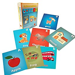 ABC Flash Cards For Toddlers - FINEST Learning Set Of Complete Capital & Small Alphabet. Appealing Design & Proven Techniques Help Them To Read & Write Faster. Limited Time Offer-BUY NOW