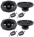 4) New Soundstream SST6.9 6x9 600 Watt 2-Way Car Coaxial Speakers Stereo SST69
