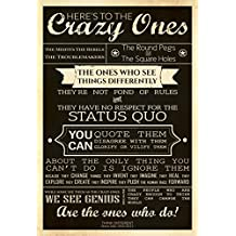 Posterhouzz Poster Steve Jobs - Here's To The Crazy Ones