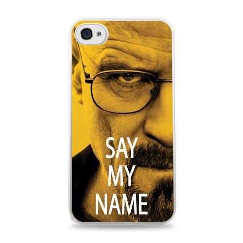 698 Walter White Say My Name Apple Iphone 5C Silicone Case - White front-923520