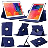 Stuff4 Case with 360 Degree Rotating Swivel Action and Screen Protector/Stylus Touch Pen for 10.1 inch Samsung Galaxy Tab Pro T520/T525 - Navy Blue
