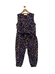 Budding Bees Infant Girls Blue Printed Romper