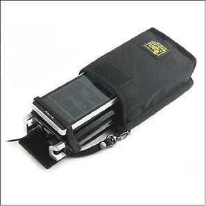 バンナイズ SONY ウォークマン ZX1 と ポータブル ヘッドフォン アンプ 「 PHA-2 」 用 キャリング ケース ( ZX1 と PHA-2 の 間に 挟む パット 付き ) ( バリスティック ナイロン 製 / ブラック )