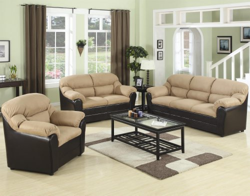 Buy Low Price AtHomeMart 3PC Casual Three-Seat Sofa, Loveseat, and Chair Set (COAS501881N_501882N_501883N_3PC)
