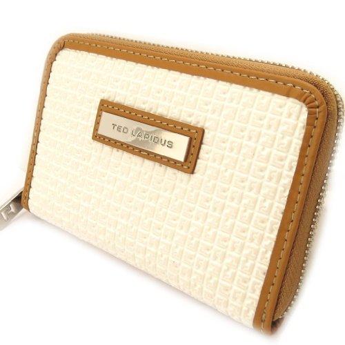 Titolare della carta portafoglio zip 'Ted Lapidus'bianco.
