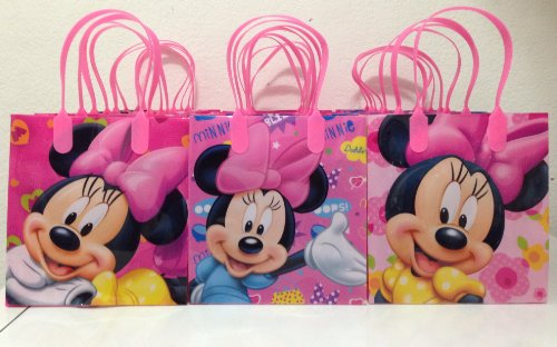 Discover Bargain Disney Minnie Mouse Party Favor Goodie Small Gift Bags 12