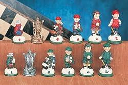Golf Theme Chessmen/Chess Piece Set