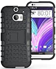 myLife Slate Black {Rugged Design} Two Piece Neo Hybrid (Shockproof Kickstand) Case for the All-New HTC One M8 Android Smartphone - AKA, 2nd Gen HTC One (External Hard Fit Armor With Built in Kick Stand + Internal Soft Silicone Rubberized Flex Gel Full Body Bumper Guard)
