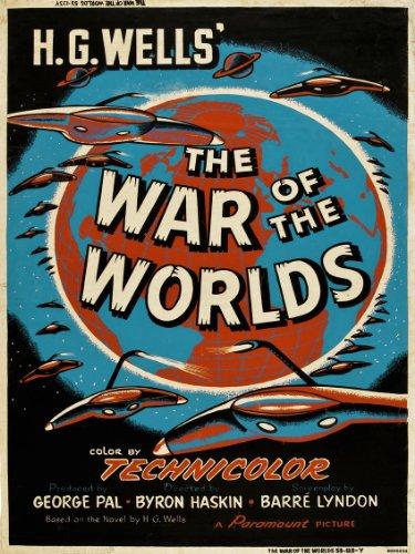 War of the worlds HG wells Movie Poster Art Print (MSP34)