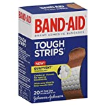 Band Aid Tough-Strips Adhesive Bandages, All One Size, 20 bandages