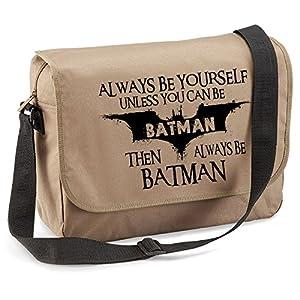 Always Be Batman-Funny Jokes Sayings Novelty Quadra Eco-option Messenger Bag at Gotham City Store