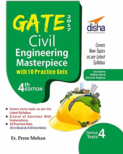 GATE 2017 Civil Engineering Masterpiece with 10 Practice Sets (6 in Book/4 Online)