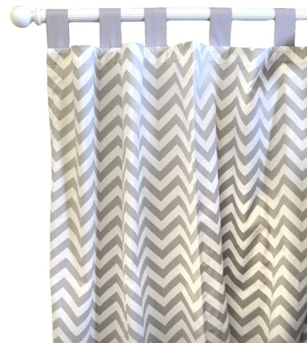 New Arrivals Zig Zag Baby Curtain Panels