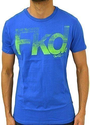 Gio Goi Herren T-Shirt Designer Fashion Freizeit Bedruckt Baumwolle Rundhalsausschnitt Jersey Top - S, Meeresblau