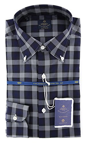 new-luigi-borrelli-gray-plaid-extra-slim-shirt