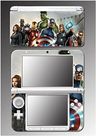 Avengers Captain America Shield Thor Video Game Vinyl Decal Cover Skin Protector 8 Nintendo 3DS XL