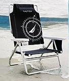 Obscuridade de Nautica - cadeira de praia de alum�nio da posi��o azul do peso leve 5 de Nautica com descanso da garganta