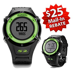 Garmin Approach S2 Golf GPS Watch (NEW VERSION w/ 30,000+ Courses) | 60-Day Buy & Try Return Policy! (Green)