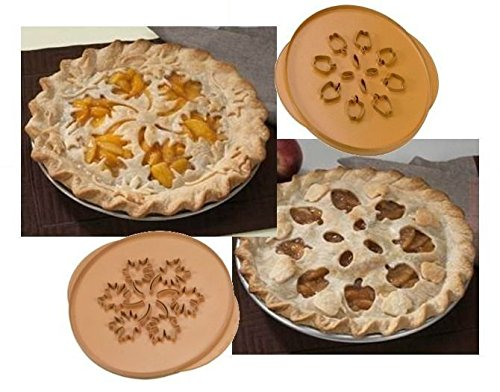 Nordic Ware 04020 Apple & Leaves Double Sided Pie Top Cutter (Pie Cutouts compare prices)