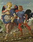 Oil Painting 'Workshop Of Andrea Del Verrocchio Tobias And The Angel' 10 x 13 inch / 25 x 32 cm , on High Definition HD canvas prints is for Gifts And Bar, Home Office And Home Theater decor, prices
