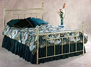 Hillsdale Furniture 1037BKR2 Chelsea Bed Set with Rails, King, Classic Brass