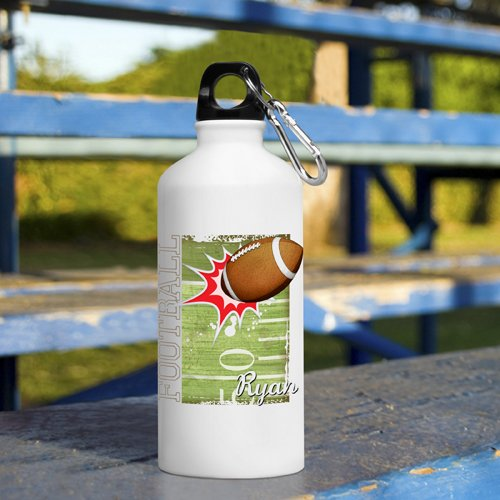 Kid'S Sporty Personalized Water Bottle - Football Personalized Water Bottle