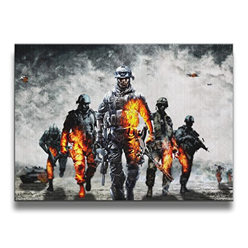 XJBD Battlefield 4 1620 Inch Solid Wood Design Frameless Picture