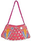 Khatri Handicrafts Women's Clutch (Pink)