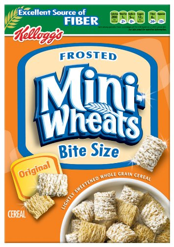 Kellogg's Frosted Mini Wheats Original. Lightly sweetened whole grain cereal. Frosted just right & crunch in every bite. Made from % whole grain. This /5().
