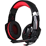 KOTION EACH Over-ear Game Headphones Stereo Smartphones Headsets With LED Light For Tablets And PS4
