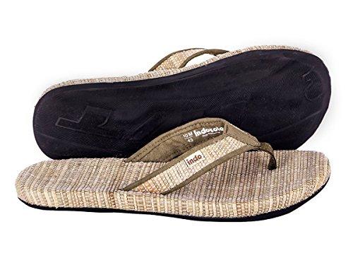 Indosole Men's Grass Mat Sandals, Size 10, GRN