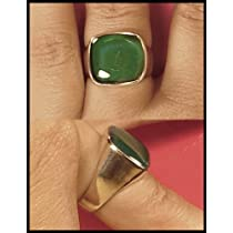 Mood Ring Sterling Silver Large Rounded Square Size 9