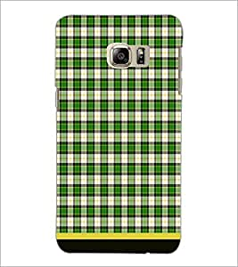 PrintDhaba Check Pattern D-1506 Back Case Cover for SAMSUNG GALAXY NOTE 5 EDGE (Multi-Coloured)