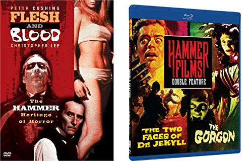 Flesh and Blood Hammer Horror Documentary DVD & Hammer Films Double Feature (The Two Faces of Dr. Jeckyll & The Gorgon) Blu-ray 2-DVD Bundle