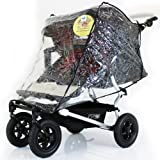 Mountain Buggy Duet TWIN Double RAINCOVER Urban Jungle/Terrain Storm Cover Chrystal Clear Heavy Duty Design