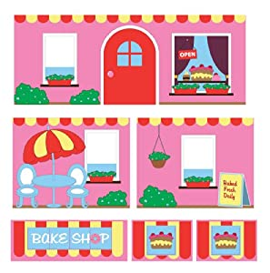 Dorel Home Products Curtain Set for Junior Loft, Bakeshop
