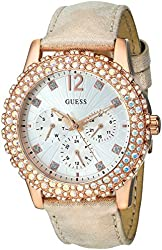 GUESS Women's U0336L4 Rose Gold-Tone Multi-Function Watch with Genuine Crystal Accents