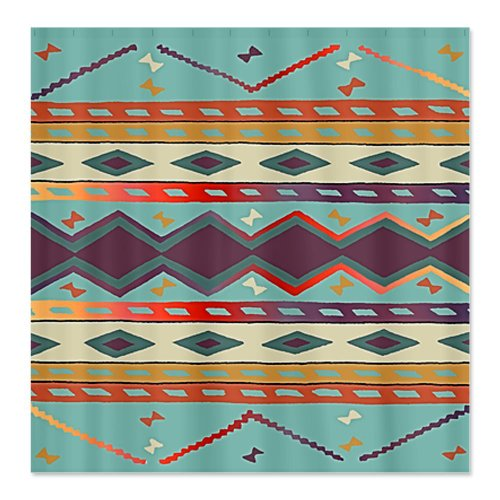 CafePress Southwest Indian Blanket Design Shower Curtain