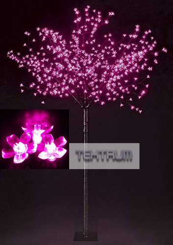 Tektrum 7.9' Tall/600 Pink Led Lighted Cherry Blossom Flower Tree For Christmas/Holiday/Party