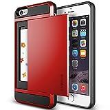 iPhone6 Plus ケース VERUS Damda Slide カードケース 搭載 プラスチック + TPU ハードケース for Apple iPhone 6 Plus 5.5 インチ 2014 クリムゾンレッド 【国内正規品】