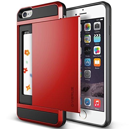 iPhone6s Plus / iPhone6 Plus ケース VERUS Damda Slide カードケース 搭載 プラスチック + TPU ハードケース for Apple iPhone 6s Plus / iPhone 6 Plus 5.5 インチ クリムゾンレッド 【国内正規品】 国内正規品証明書 付